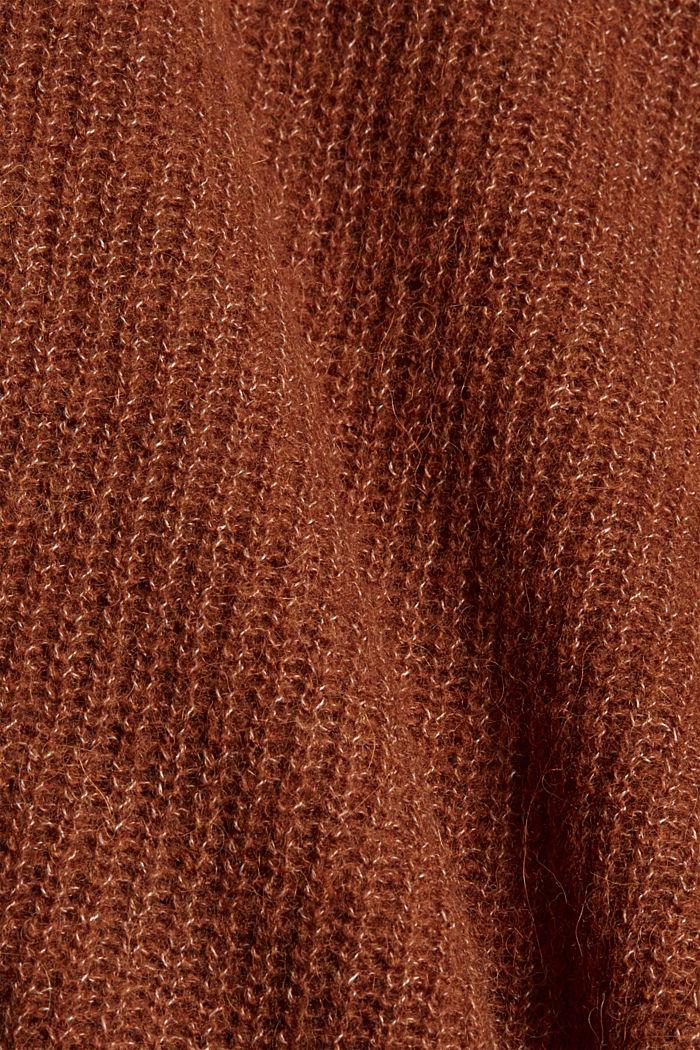Mit Wolle/Alpaka: Wickel-Cardigan, TOFFEE, detail image number 4