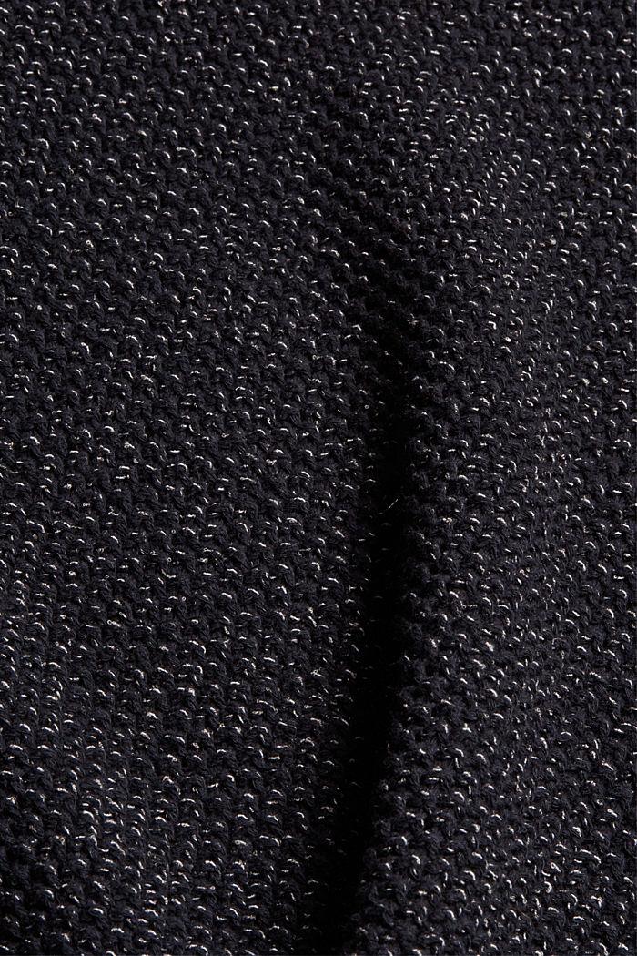 Pull-over à manches courtes en coton mélangé, BLACK, detail image number 4