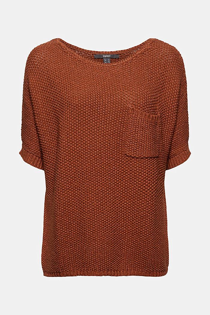 Kurzarm-Pullover aus Baumwoll-Mix