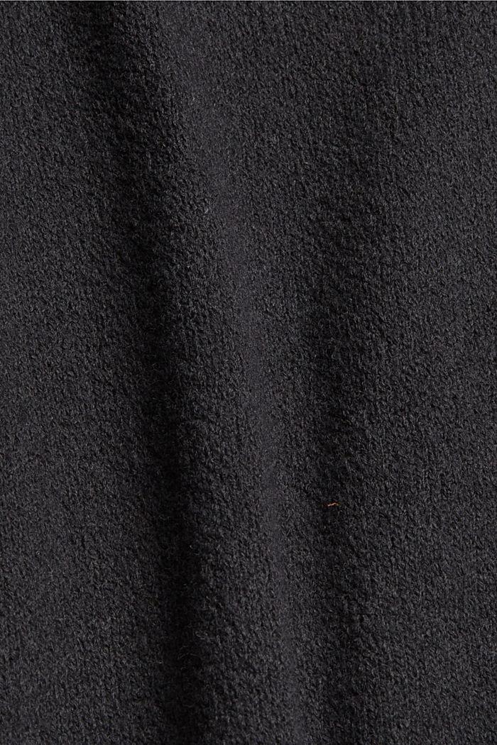 À teneur en laine: le gilet en maille à col droit, GUNMETAL, detail image number 4