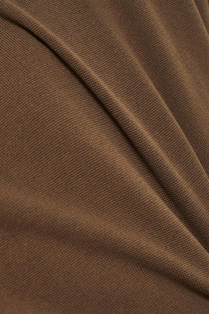 Strick-Shacket aus 100% Bio-Baumwolle, DARK KHAKI, detail image number 4