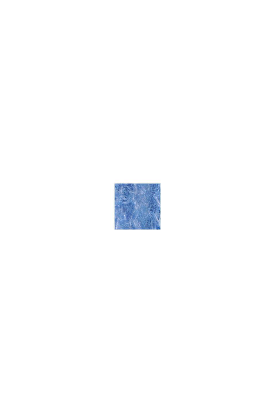 Med alpacka/ull: V-ringad tröja, BRIGHT BLUE, swatch