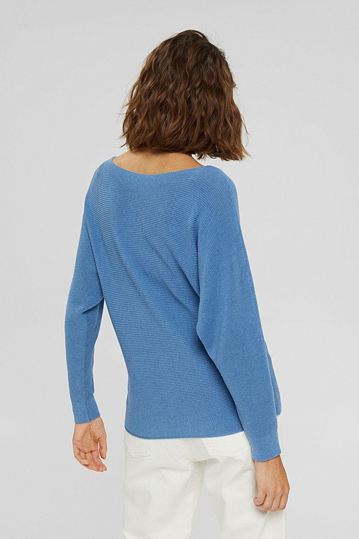 Pullover aus Bio-Baumwoll-Mix, BRIGHT BLUE, detail image number 3