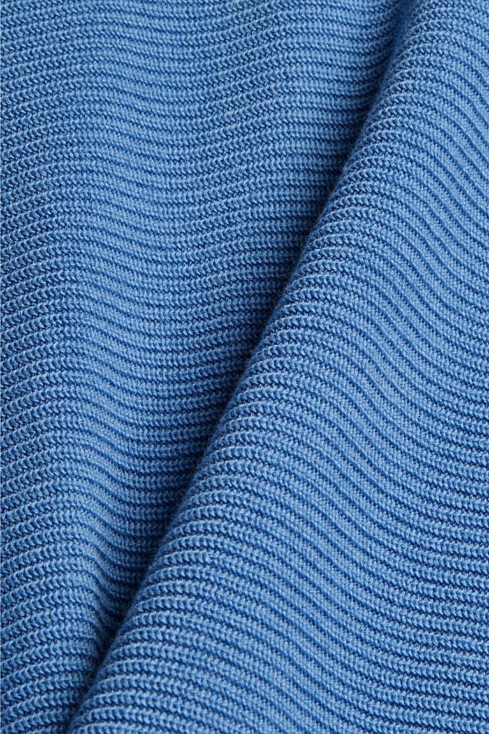 Pullover aus Bio-Baumwoll-Mix, BRIGHT BLUE, detail image number 4