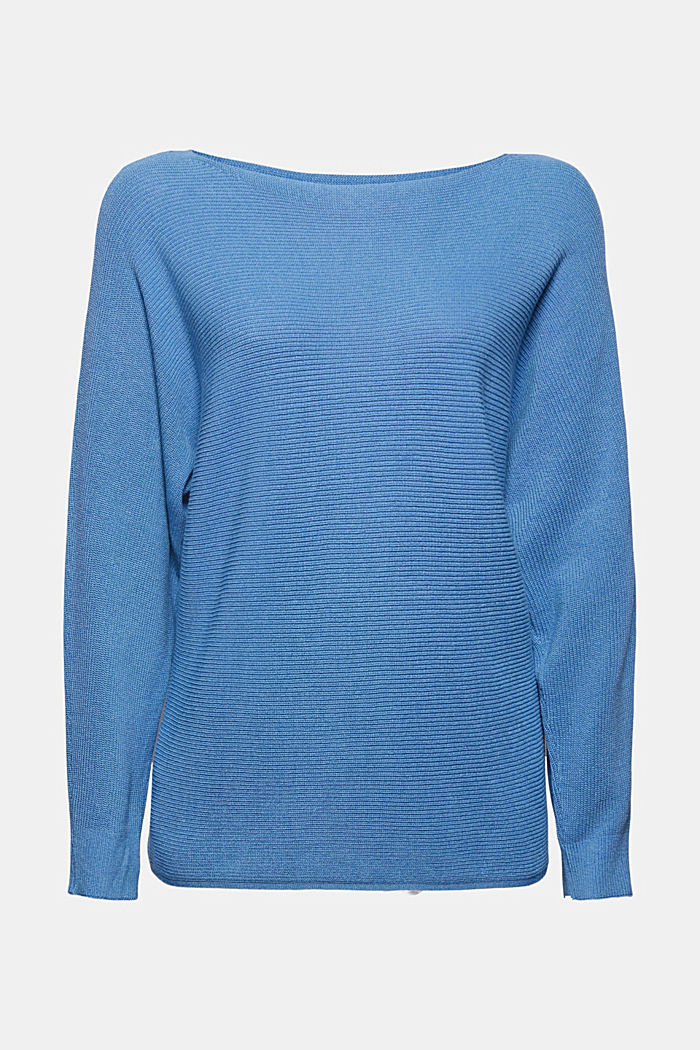 Jumper made of blended organic cotton