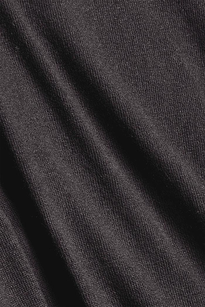 Oversized trui met kasjmier en wol, BLACK, detail image number 4