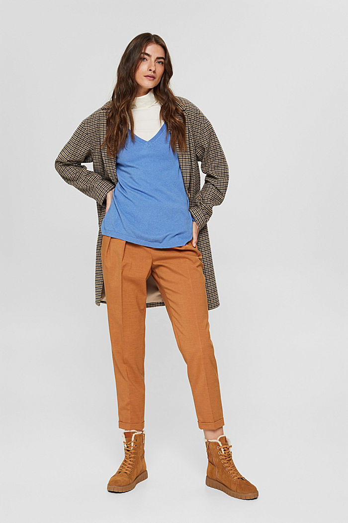 Oversize-Pullover mit Kaschmir-Woll-Blend, BRIGHT BLUE, detail image number 1