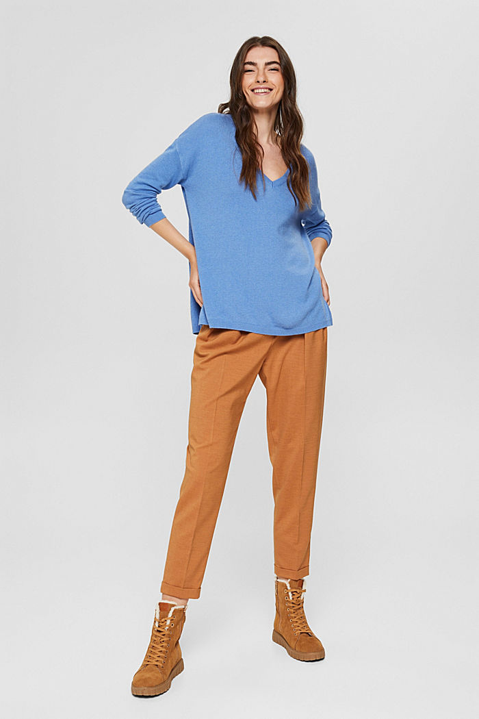 Oversize-Pullover mit Kaschmir-Woll-Blend, BRIGHT BLUE, detail image number 6