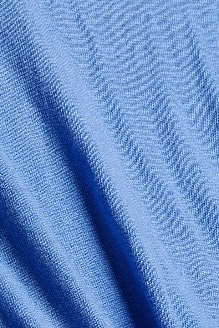 Oversize-Pullover mit Kaschmir-Woll-Blend, BRIGHT BLUE, detail image number 4