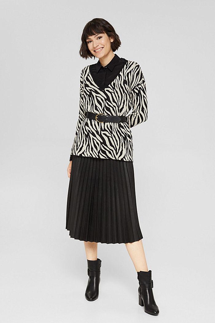 Med kashmir/uld: mønstret pullover