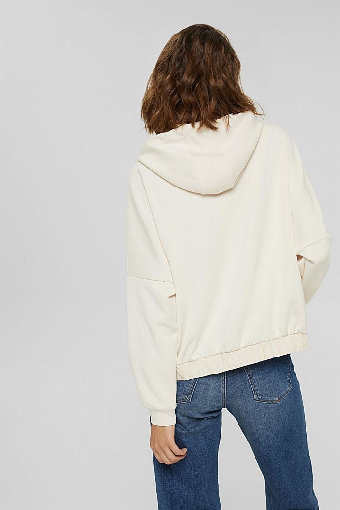 Hoodie van soepele jersey, ICE, detail image number 3