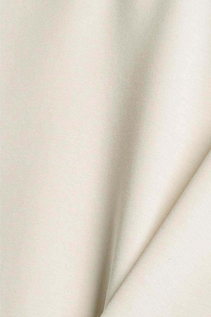 Hoodie van soepele jersey, ICE, detail image number 4