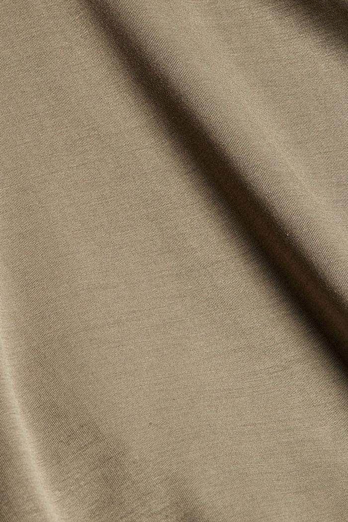 Hoodie dress in flowing jersey, DARK KHAKI, detail image number 4