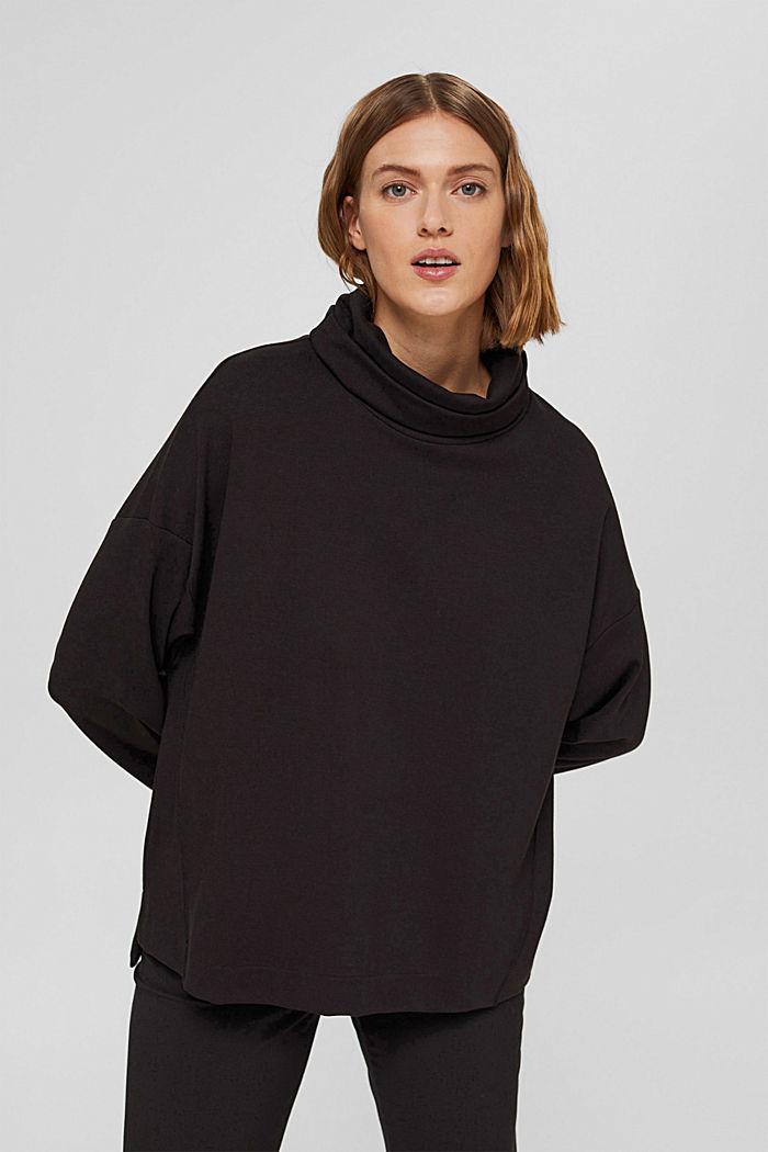 Sweat-shirt à col roulé, LENZING™ ECOVERO™