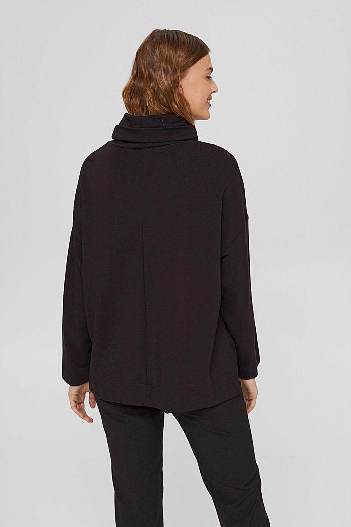 Sweat-shirt à col roulé, LENZING™ ECOVERO™, BLACK, detail image number 3