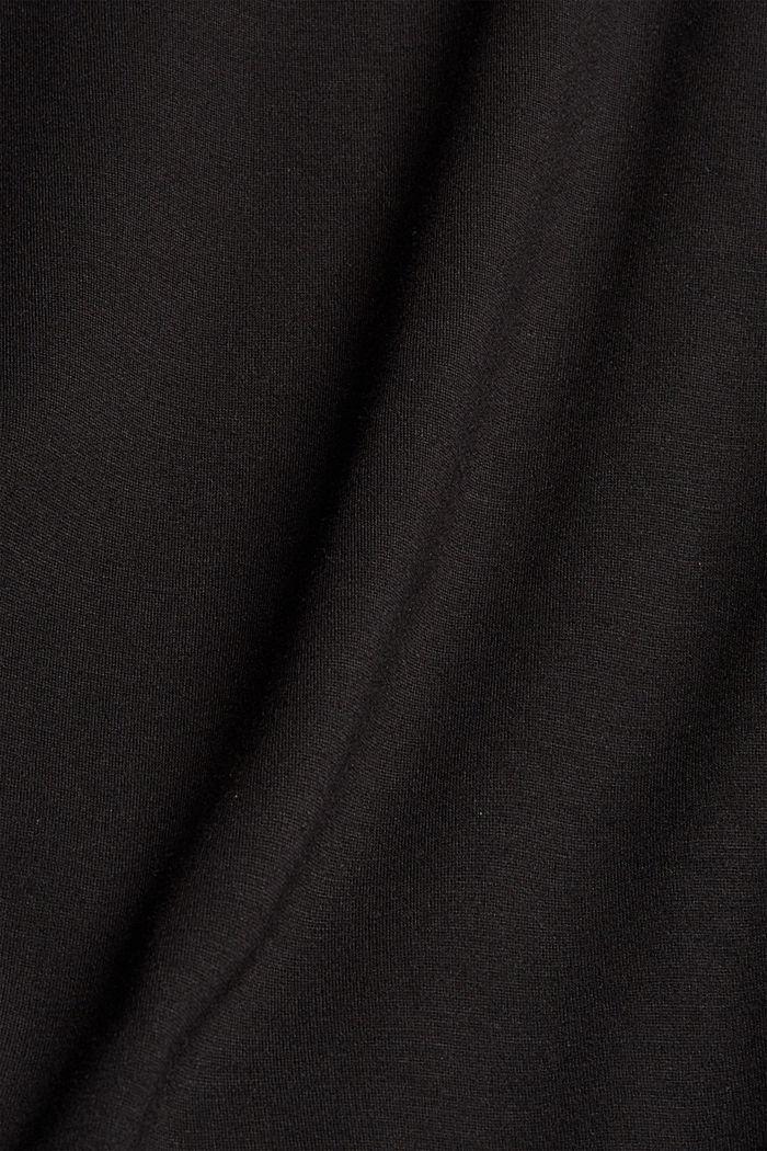 Sweat-shirt à col roulé, LENZING™ ECOVERO™, BLACK, detail image number 4