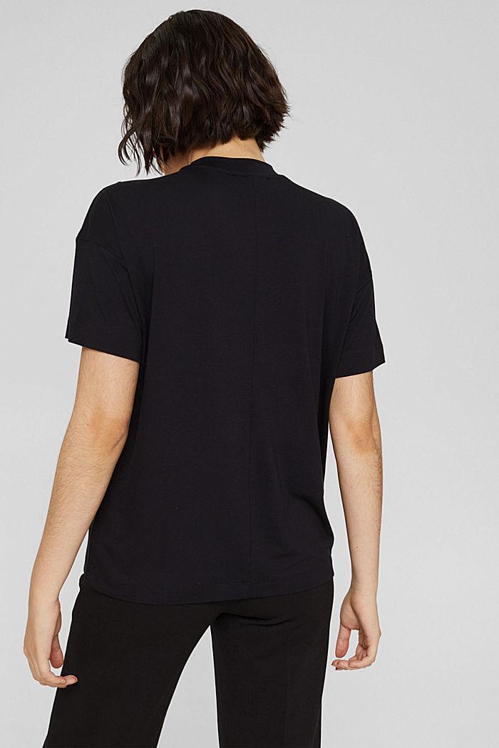T-shirt met knopen, van LENZING™ ECOVERO™, BLACK, detail image number 3