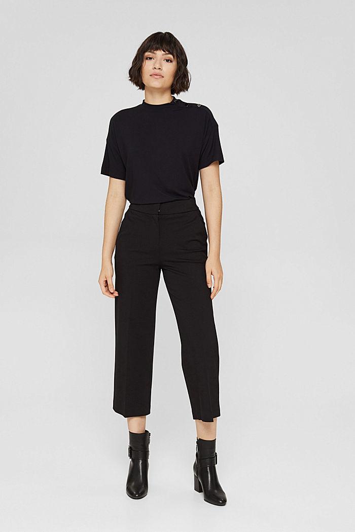 T-shirt met knopen, van LENZING™ ECOVERO™, BLACK, detail image number 5