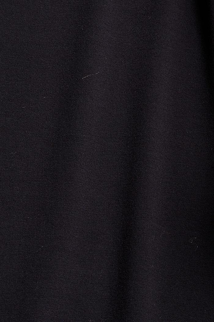 T-shirt met knopen, van LENZING™ ECOVERO™, BLACK, detail image number 4