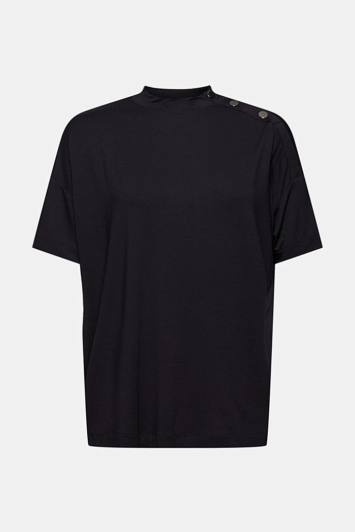T-shirt à boutons, en LENZING™ ECOVERO™