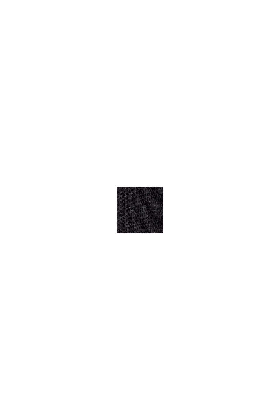 T-shirt à boutons, en LENZING™ ECOVERO™, BLACK, swatch