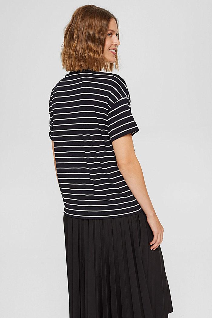 T-Shirt mit Knöpfen aus LENZING™ ECOVERO™, BLACK COLORWAY, detail image number 3
