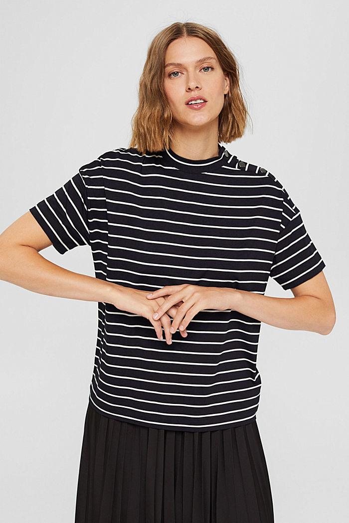 T-Shirt mit Knöpfen aus LENZING™ ECOVERO™, BLACK COLORWAY, detail image number 5