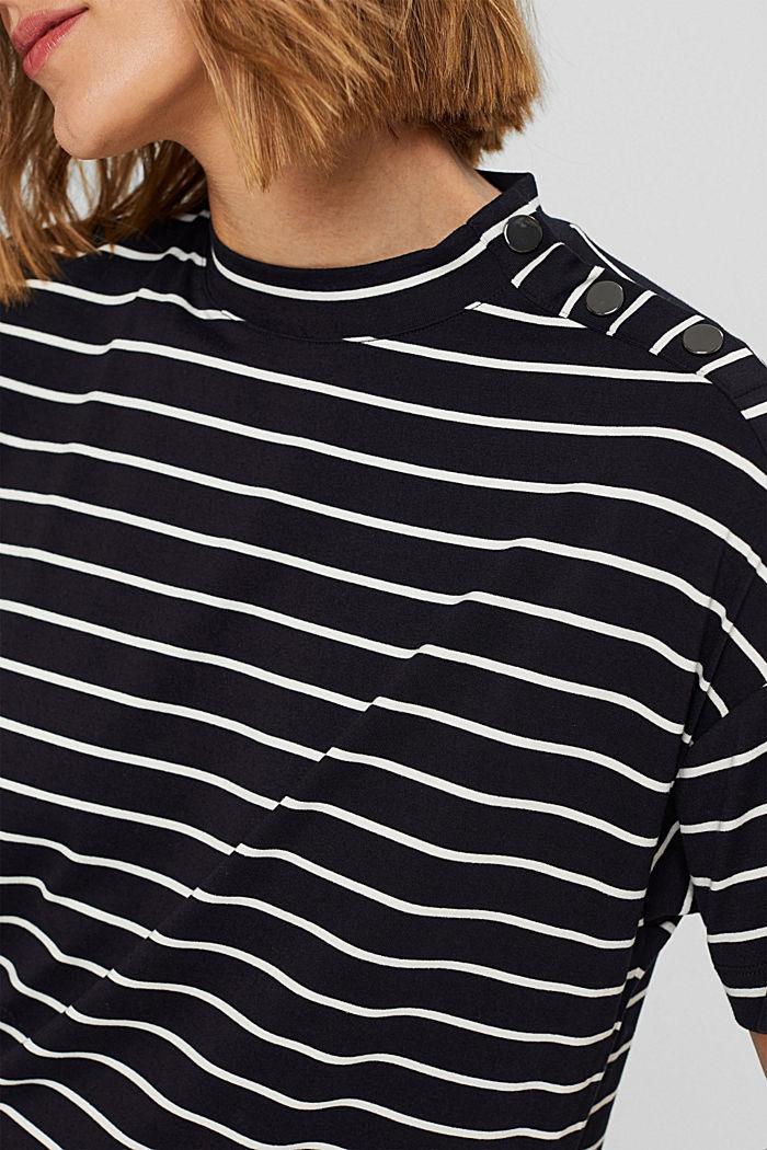 T-Shirt mit Knöpfen aus LENZING™ ECOVERO™, BLACK COLORWAY, detail image number 2