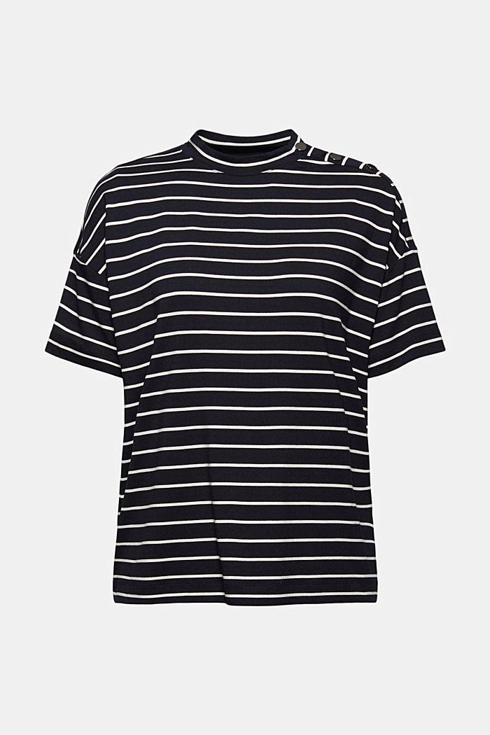 T-shirt à boutons, en LENZING™ ECOVERO™, BLACK COLORWAY, detail image number 7