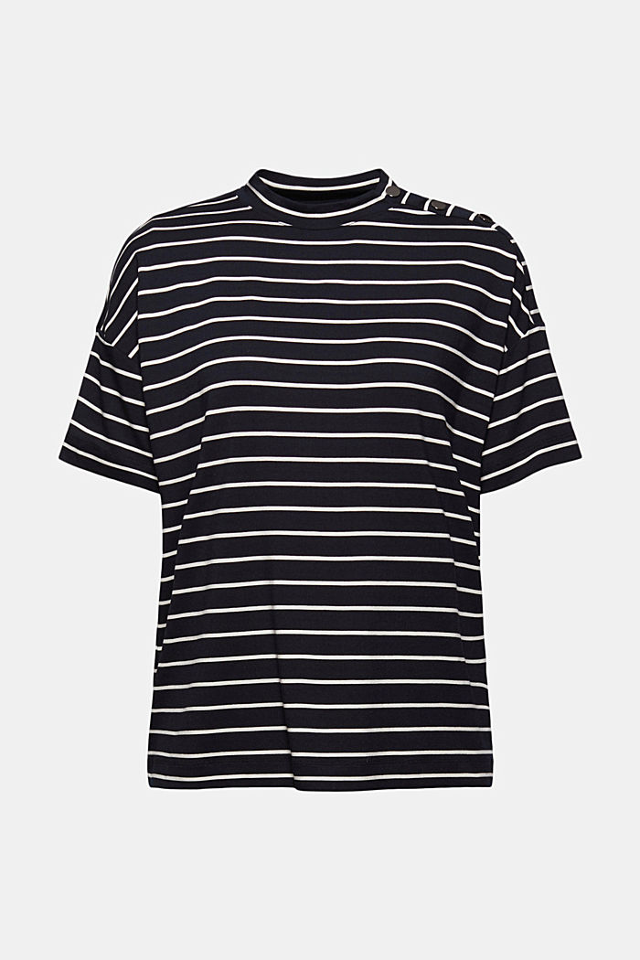 T-Shirt mit Knöpfen aus LENZING™ ECOVERO™, BLACK COLORWAY, detail image number 7