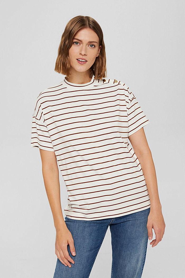 T-shirt à boutons, en LENZING™ ECOVERO™, TOFFEE, detail image number 0