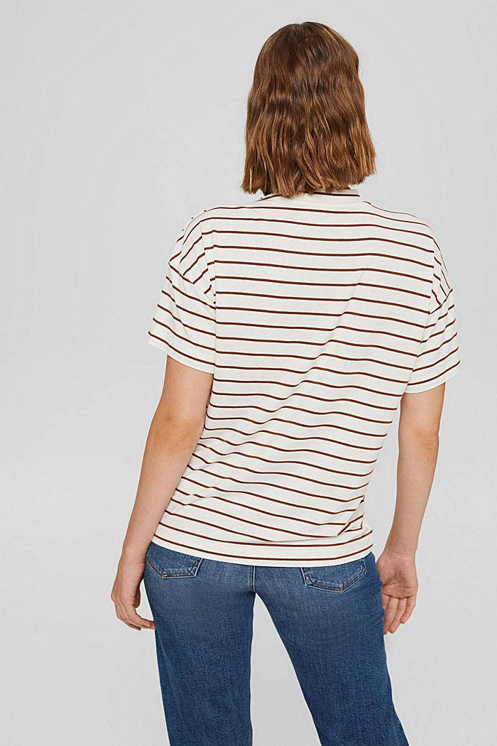 T-shirt à boutons, en LENZING™ ECOVERO™, TOFFEE, detail image number 3