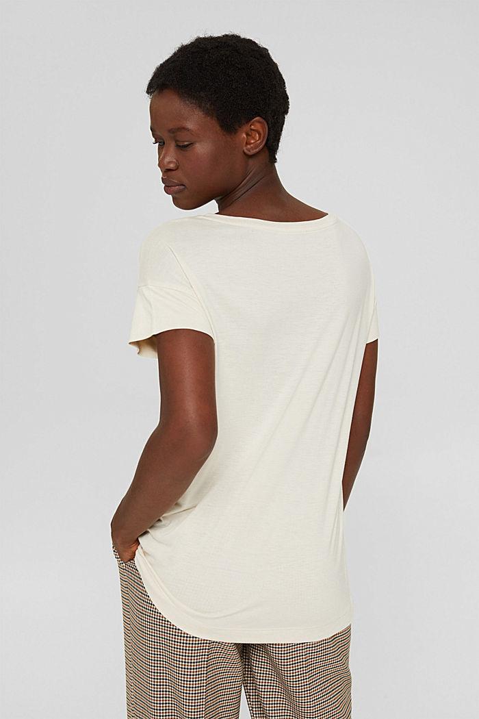 T-shirt met print van LENZING™ ECOVERO™, ICE, detail image number 3