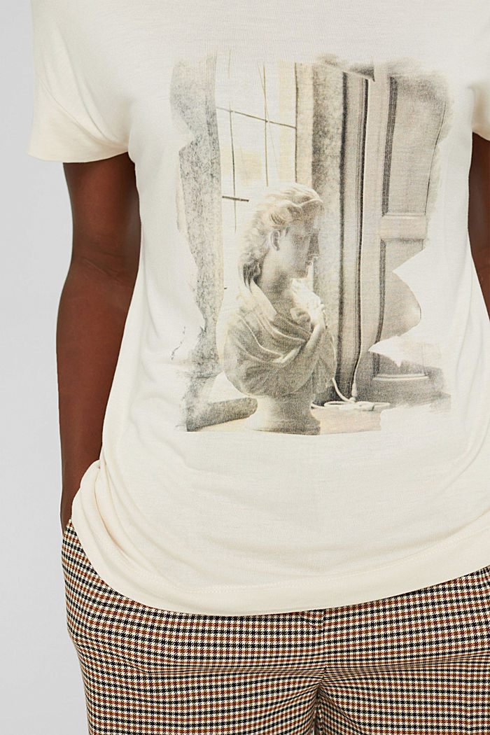 T-shirt met print van LENZING™ ECOVERO™, ICE, detail image number 2
