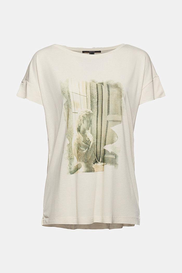 T-shirt met print van LENZING™ ECOVERO™, ICE, detail image number 6