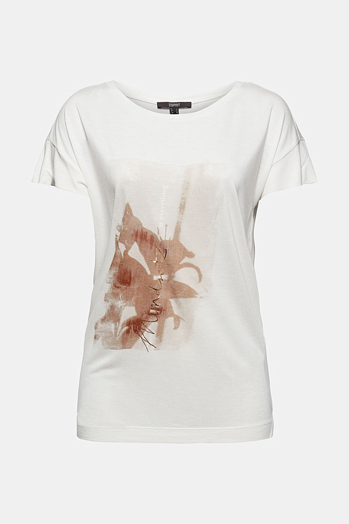 Printed T-shirt made of LENZING™ ECOVERO™, OFF WHITE, detail image number 5