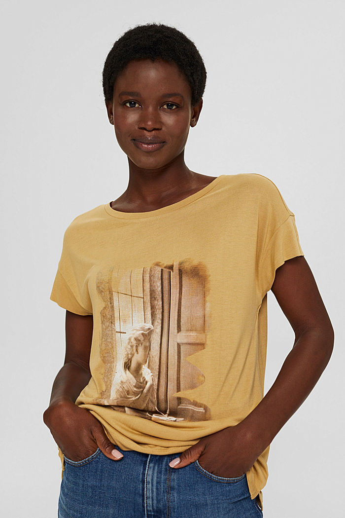 T-shirt con stampa in LENZING™ ECOVERO™