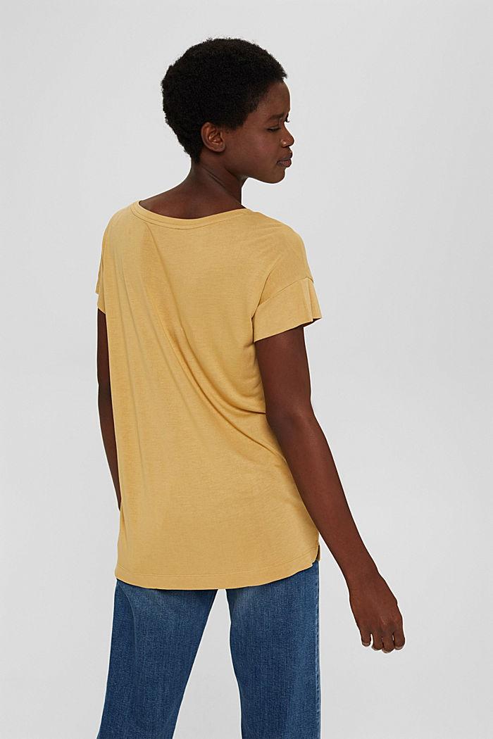 T-Shirt mit Print aus LENZING™ ECOVERO™, KHAKI BEIGE, detail image number 3
