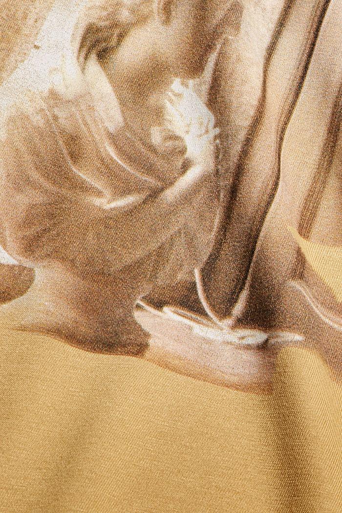 T-Shirt mit Print aus LENZING™ ECOVERO™, KHAKI BEIGE, detail image number 4