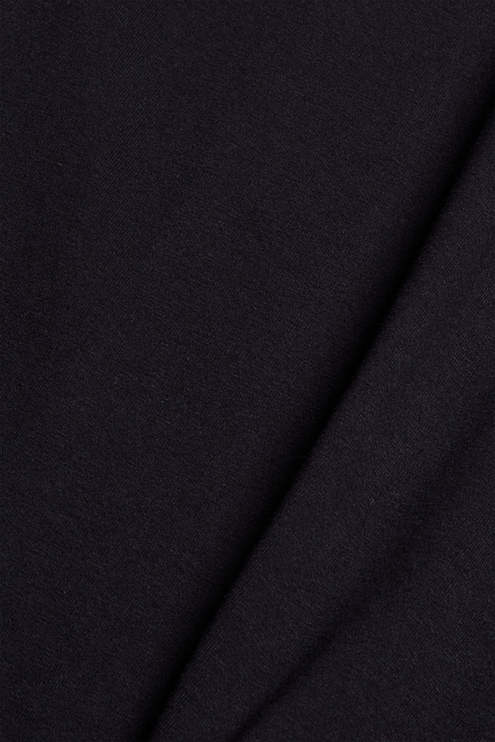 T-shirt à broderie, 100 % coton biologique, BLACK, detail image number 4