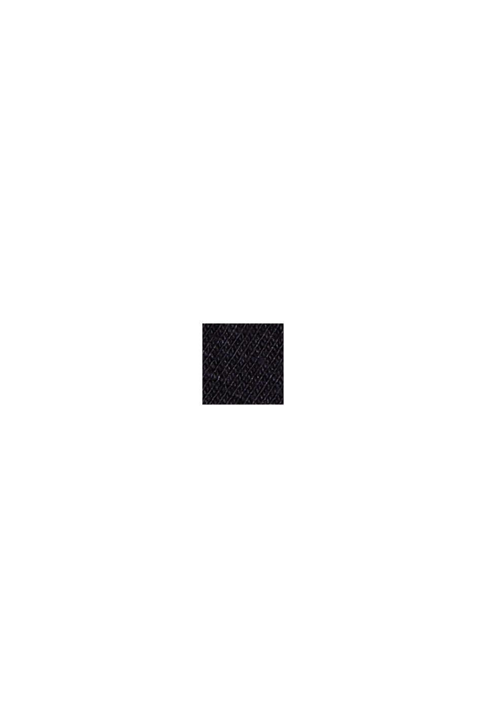T-Shirt mit Stickerei, 100% Organic Cotton, BLACK, swatch