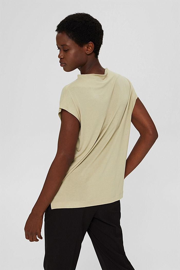 Gebloemd T-shirt van TENCEL™ x REFIBRA™, DUSTY GREEN, detail image number 3