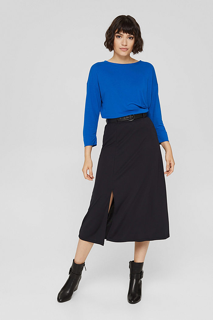 Long sleeve top with a print on the back, BRIGHT BLUE, detail image number 7