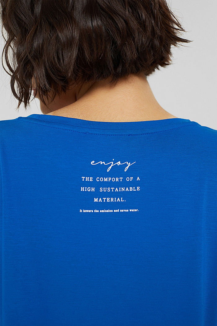 Long sleeve top with a print on the back, BRIGHT BLUE, detail image number 2