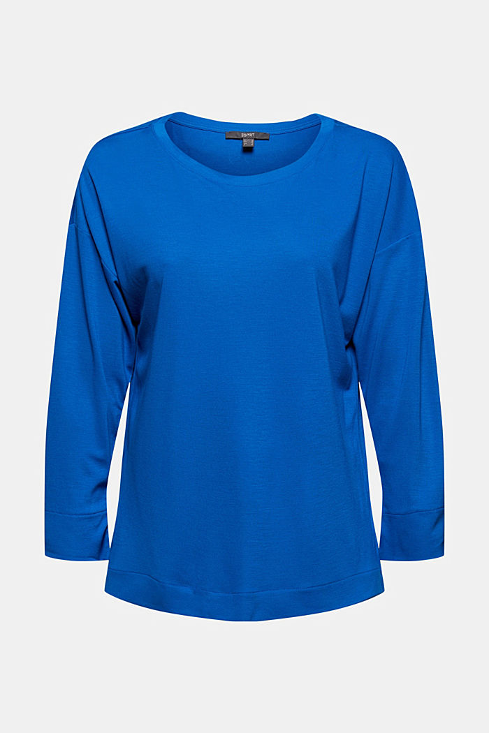 Long sleeve top with a print on the back, BRIGHT BLUE, detail image number 8