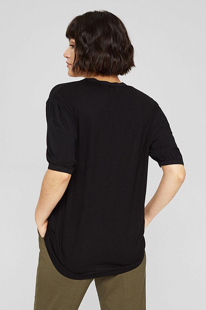 Haut façon blouse à teneur en LENZING™ ECOVERO™, BLACK, detail image number 3