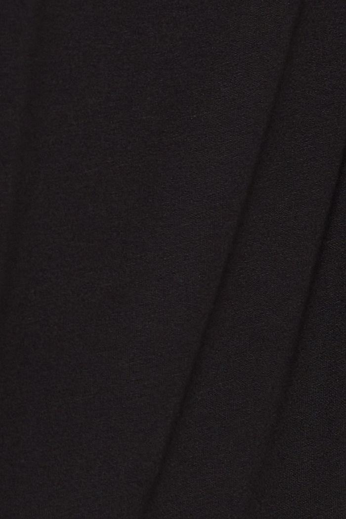 Haut façon blouse à teneur en LENZING™ ECOVERO™, BLACK, detail image number 4