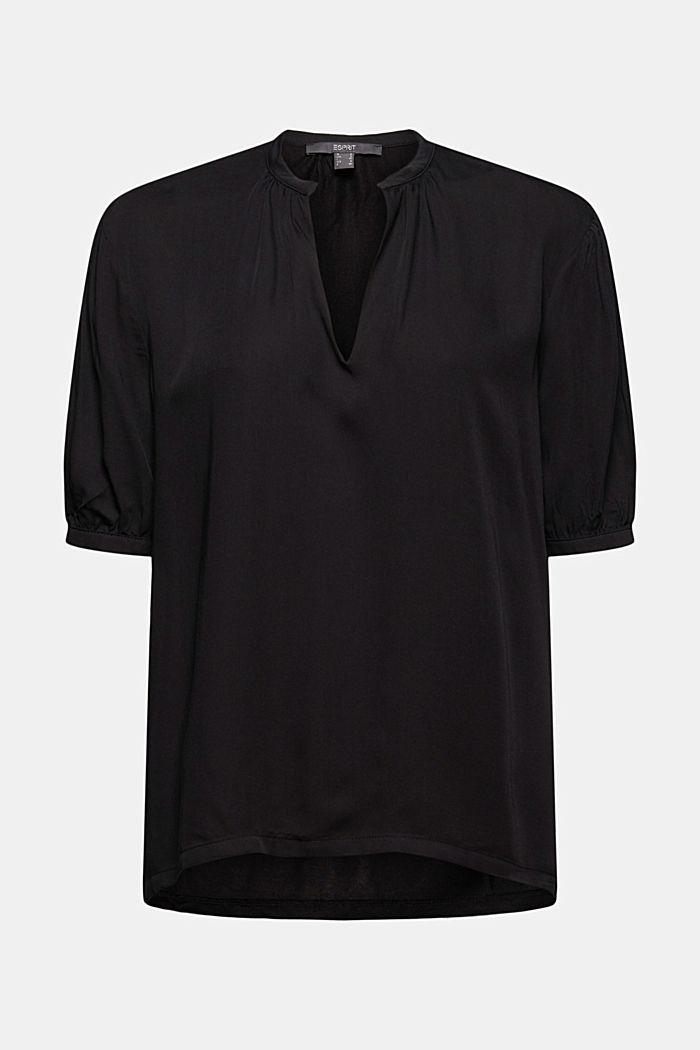 Haut façon blouse à teneur en LENZING™ ECOVERO™, BLACK, detail image number 7