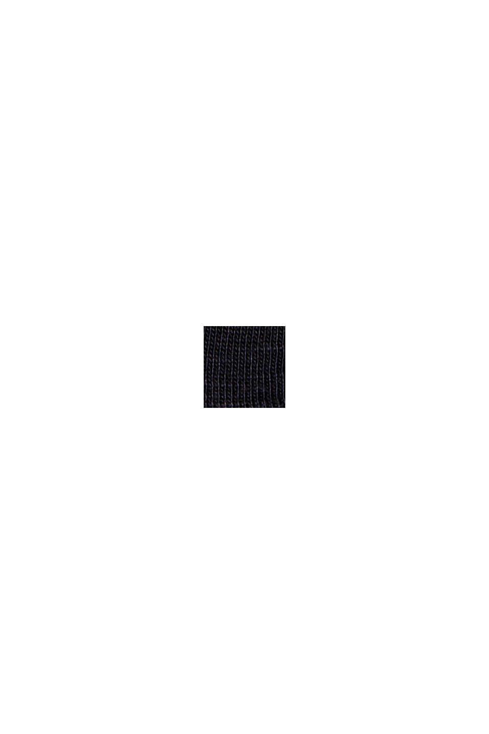 T-shirt à inscription en TENCEL™ et coton biologique, BLACK, swatch