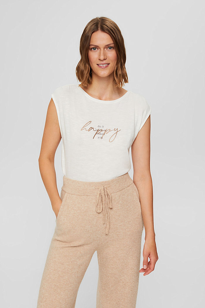 T-shirt à inscription en TENCEL™ et coton biologique